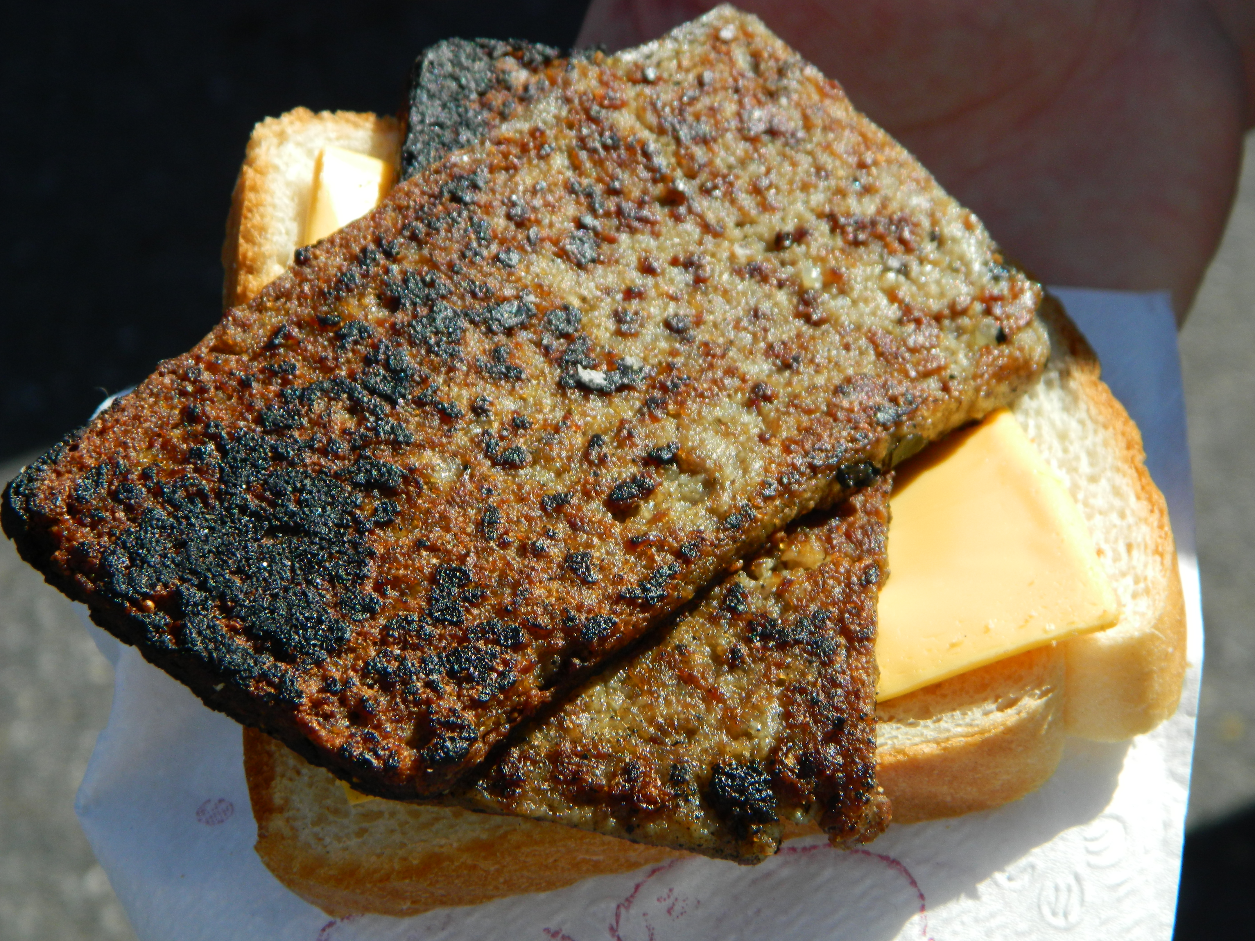 This scrapple looks eerily similar to my broiled tofu. I don't EVER ...