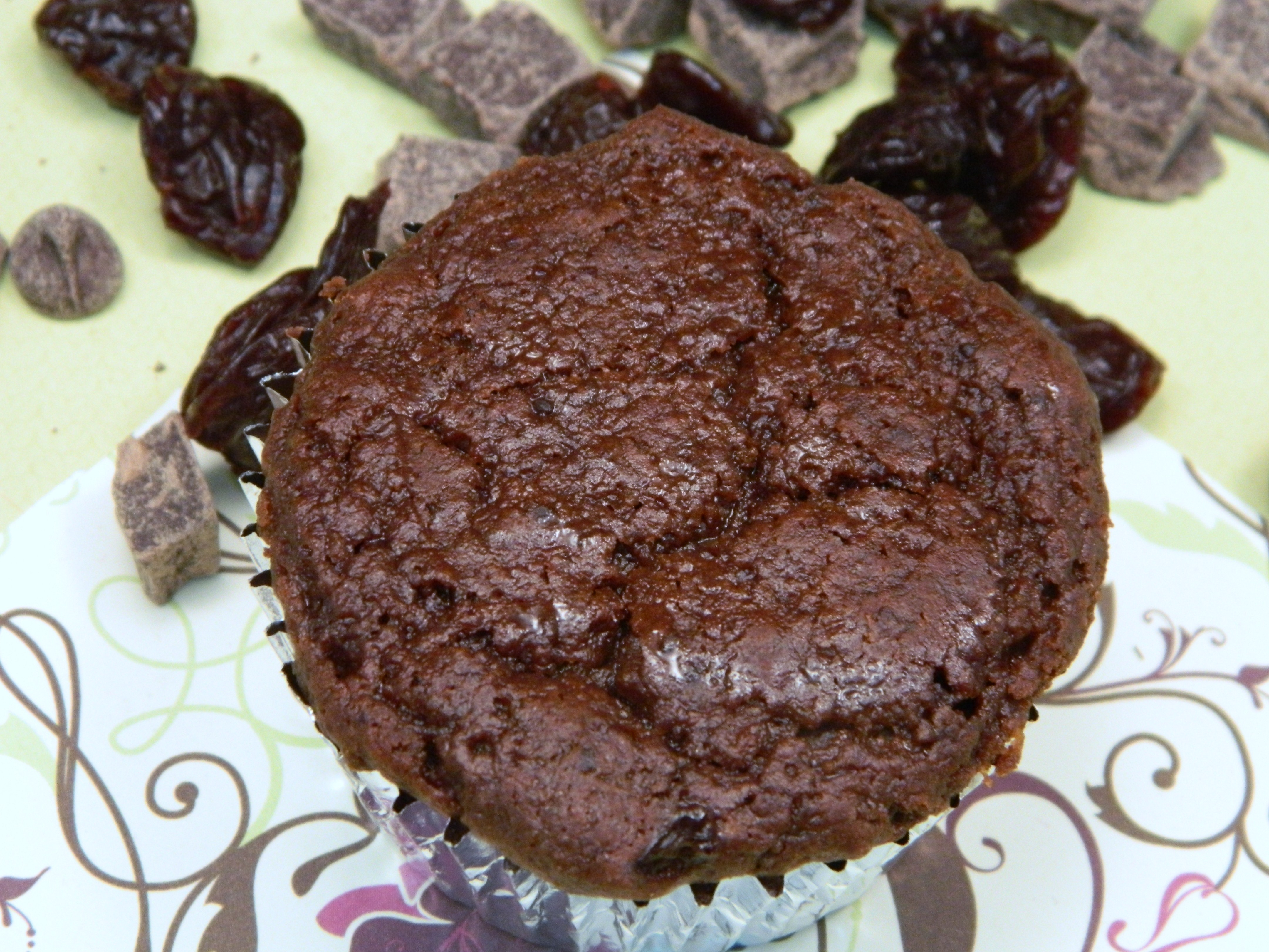double chocolate cherry muffins | foodofmyaffection